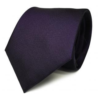 TigerTie Designer Seidenkrawatte lila dunkellila violett Uni - Krawatte Seide
