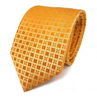 Designer Seidenkrawatte gelb orange gelborange gemustert - Krawatte Seide Binder