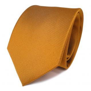 Designer Seidenkrawatte braun gold Uni Rips - Krawatte Seide Binder