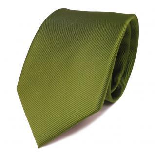 TigerTie Seidenkrawatte grün hellgrün gelbgrün Uni Rips - Krawatte Seide Binder