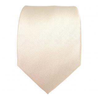 Designer Seidenkrawatte creme weiss perlmutt Uni Rips - Krawatte Seide Binder - Vorschau 2