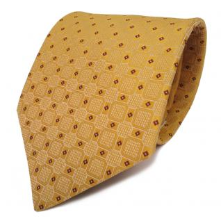 Designer Krawatte orange hellorange silber gemustert - Schlips Binder Tie
