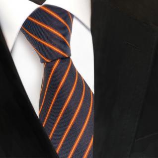 Designer Seidenkrawatte braun kupfer lila blaulila gestreift- Krawatte Seide Tie
