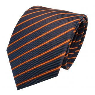 Designer Seidenkrawatte braun kupfer lila blaulila gestreift- Krawatte Seide Tie - Vorschau 2