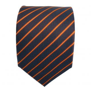 Designer Seidenkrawatte braun kupfer lila blaulila gestreift- Krawatte Seide Tie - Vorschau 3