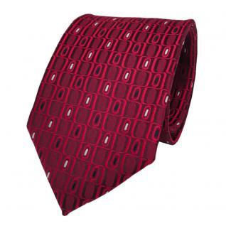 Designer Seidenkrawatte rot silber royalblau gemustert - Krawatte Seide Tie
