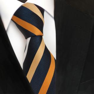 Designer Seidenkrawatte braun gold silber royal gestreift - Krawatte Seide Tie