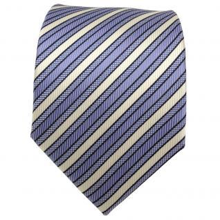 TigerTie Designer Seidenkrawatte blau hellblau weiß gestreift - Krawatte Seide - Vorschau 2