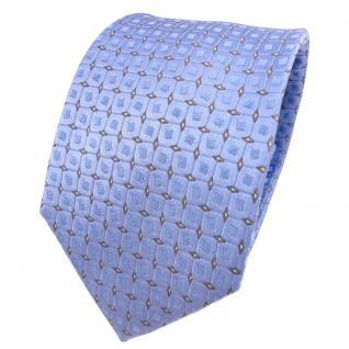 Designer Seidenkrawatte blau hellblau grau silber gepunktet - Krawatte Seide - Vorschau 1