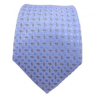 Designer Seidenkrawatte blau hellblau grau silber gepunktet - Krawatte Seide - Vorschau 2