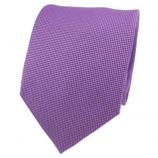 Designer Krawatte lila signalviolett flieder silber gepunktet - Schlips Binder