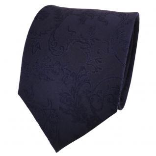 TigerTie Designer Seidenkrawatte blau dunkelblau royal gemustert- Krawatte Seide