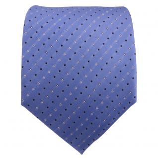 TigerTie Seidenkrawatte blau hellblau silber schwarz gestreift - Krawatte Seide - Vorschau 2