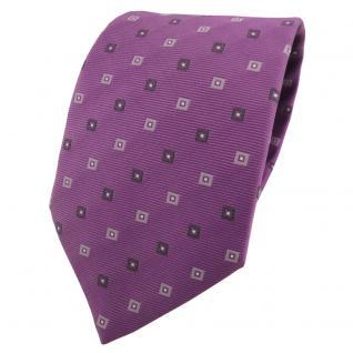 Designer Krawatte lila flieder grau anthrazit gemustert - Schlips Binder Tie