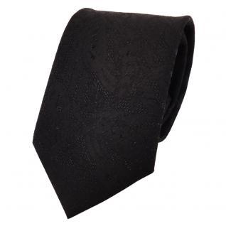 Designer Krawatte schwarz silber gemustert Glitzer - Schlips Binder Tie