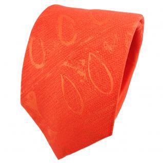 TigerTie Satin Seidenkrawatte orange rotorange gemustert - Krawatte Seide Binder
