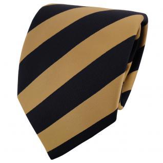 TigerTie Designer Krawatte gold schwarz gestreift - Binder Schlips Tie