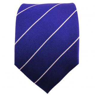 TigerTie Seidenkrawatte ultramarinblau silber gestreift - Krawatte 100% Seide - Vorschau 2