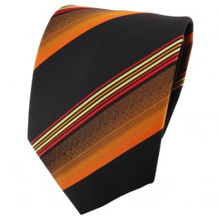 schöne TigerTie Designer Krawatte orange rot gold schwarz gestreift - Binder Tie