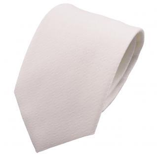 schöne feine TigerTie Designer Krawatte weiß uni gemustert - Binder Tie