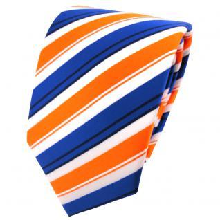 schöne TigerTie Krawatte in orange blau schwarz weiß gestreift - Binder Tie