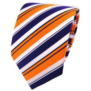 schöne TigerTie Krawatte in orange lila schwarz weiß gestreift - Binder Tie