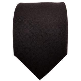 TigerTie Designer Krawatte schwarz uni gemustert - Cravate Tie Binder - Vorschau 2