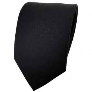 TigerTie Designer Krawatte schwarz uni gemustert - Tie Binder