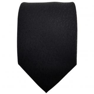 TigerTie Designer Krawatte schwarz uni gemustert - Tie Binder - Vorschau 2