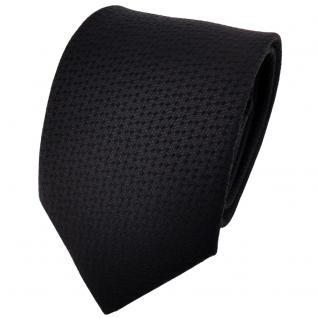 TigerTie Designer Krawatte schwarz uni gepunktet - Cravate Tie Binder