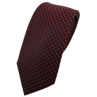 Schmale TigerTie Seidenkrawatte braun rotbraun schwarz gemustert - Krawatte Tie