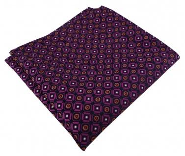TigerTie Designer Einstecktuch in magenta orange silber schwarz gemustert