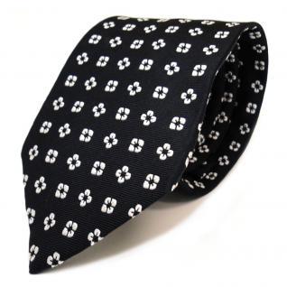 Mexx Designer Seidenkrawatte schwarz weiß gemustert - Krawatte Seide Tie Binder