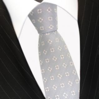 Mexx Seidenkrawatte blau hellblau weiss gemustert - Krawatte Seide Silk Tie - Vorschau 3