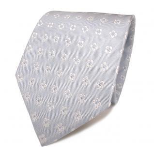 Mexx Seidenkrawatte blau hellblau weiss gemustert - Krawatte Seide Silk Tie - Vorschau 1