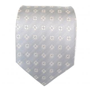 Mexx Seidenkrawatte blau hellblau weiss gemustert - Krawatte Seide Silk Tie - Vorschau 2