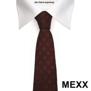 Mexx Seidenkrawatte rot dunkelrot weinrot kariert - Krawatte Tie Seide Silk - Vorschau 2