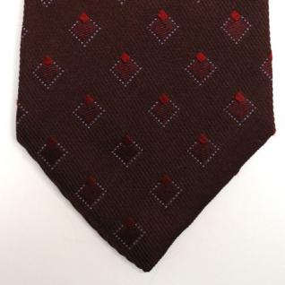 Mexx Seidenkrawatte rot dunkelrot weinrot kariert - Krawatte Tie Seide Silk - Vorschau 3