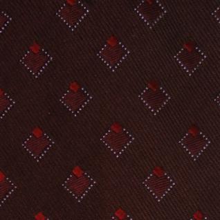 Mexx Seidenkrawatte rot dunkelrot weinrot kariert - Krawatte Tie Seide Silk - Vorschau 4
