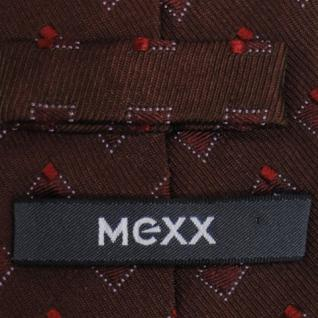 Mexx Seidenkrawatte rot dunkelrot weinrot kariert - Krawatte Tie Seide Silk - Vorschau 5
