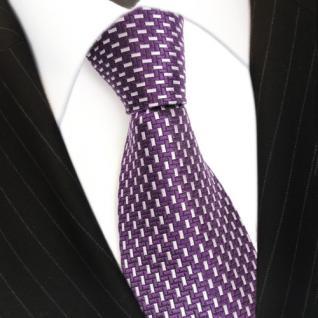 Mexx Designer Seidenkrawatte lila violett silber gemustert - Krawatte Seide Silk - Vorschau 3