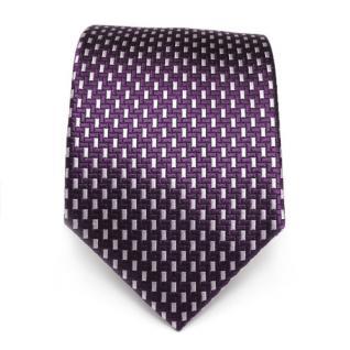 Mexx Designer Seidenkrawatte lila violett silber gemustert - Krawatte Seide Silk - Vorschau 2