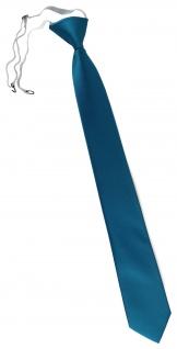 XXL TigerTie Security Sicherheits Krawatte in türkis wasserblau einfarbig Uni