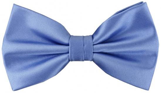 Satin Fliege in blau Uni + Geschenkbox, Schleife 30 cm bis 50 cm verstellbar