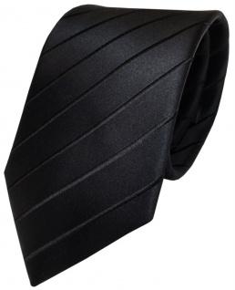 TigerTie Designer Seidenkrawatte schwarz gestreift - Krawatte Seide / Silk Tie - Vorschau 1