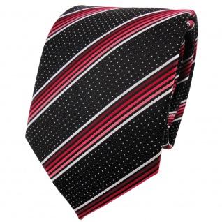 schöne TigerTie Krawatte in rot silberweiss schwarz gestreift - Binder Tie