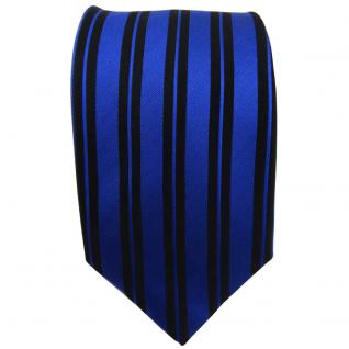 Seidenkrawatte blau schwarz längs gestreift - Krawatte Seide Tie Silk Binder - Vorschau 2