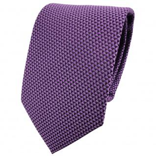 schöne Krawatte in lila schwarz gemustert - Krawatte Binder Tie