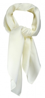 TigerTie Nickituch Kopftuch Halstuch Pique in creme uni - Größe 70 x 70 cm