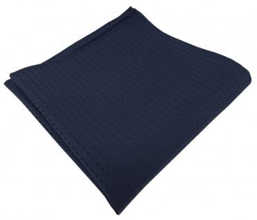 TigerTie Designer Seideneinstecktuch in blau dunkelblau schwarzblau gemustert